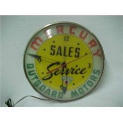 Mercury Outboard Motors Electric Lighted Advertising Clock