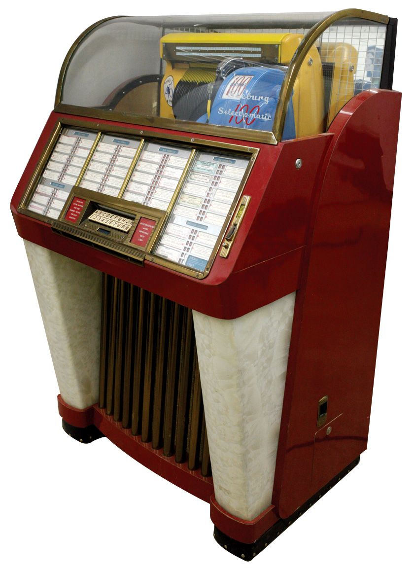 Coin-operated jukebox, Seeburg Selectomatic 100, Exc working cond w/great  sound, 54