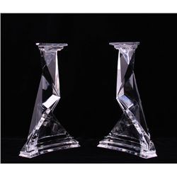 A pair of Salvador Dali signed Baccarat castor and