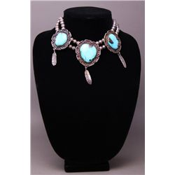 Native American Turquoise Youth Necklace(Size: See last