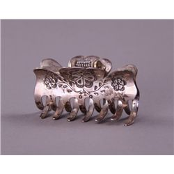 Native American Sterling Silver Hair Clamp.(Size: See