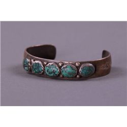 Native American Sterling Silver and Turquoise Child's