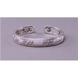Sterling silver and Cubic Zirc+B119onia bangle from