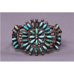 Early 1900's Zuni Native American turquoise cluster and