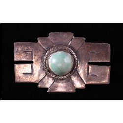Antique Native American sterling silver pendant with