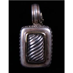 Mid 1900's Silver and Gold Pendant. Stamped 925, 0.50