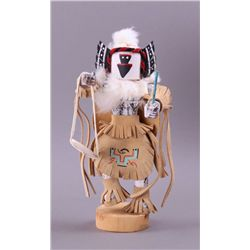 """Crow Mother"", Native American wood Kachina doll.  Mid"