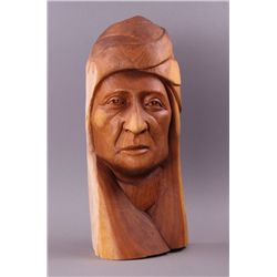 Paul Hornbuckle, 1997, Wood carving of Native American