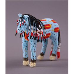 Exquisite Native American Indian hand beaded horse.