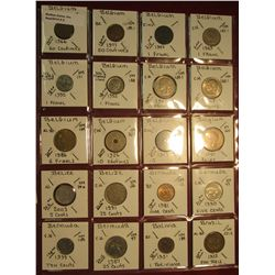 "2. (20) World Coins in 2"" x 2"" holders. All identified. Includes Belgium, Belize, Bermuda, Bolivia,"