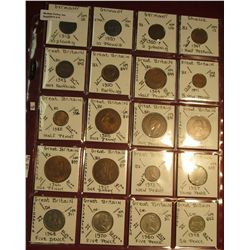 "9. (20) World Coins in 2"" x 2"" holders. All identified. Includes Germany, Ghana, & Great Britain. Br"