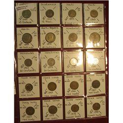 12. (20) Identified Coins from Guatemala, Haiti, Honduras,  & Hong Kong. KM value $5.65.