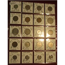 13. (20) Identified Coins from Hong Kong, Hungary, & Iceland. KM value $3.15.