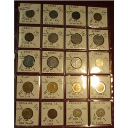 "16. (20) World Coins in 2"" x 2"" holders. All identified. Includes (16) Different from Italy & (4) Fr"
