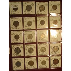 "21. (20) World Coins in 2"" x 2"" holders. All identified. Includes New Zealand, Nigeria, Norway, Paki"