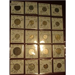 "22. (20) World Coins in 2"" x 2"" holders. All identified. Includes (18) Different Philippines & 1 & 5"
