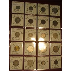 "23. (20) World Coins in 2"" x 2"" holders. All identified. Includes Poland, Polynesia, Portugal, Roman"