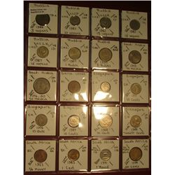 "24. (20) World Coins in 2"" x 2"" holders. All identified. Includes (7) Russia, (2) Saudi Arabia, (1)"