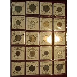 "26. (20) World Coins in 2"" x 2"" holders. All identified. Includes Spain, Sudan, Switzerland, Taiwan,"