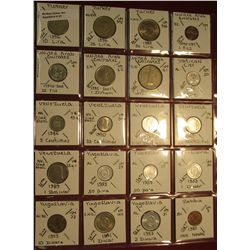 "27. (20) World Coins in 2"" x 2"" holders. All identified. Includes Turkey, United Arab Emirates, Vati"