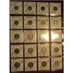 "28. (20) World Coins in 2"" x 2"" holders. All identified. Includes Argentina, Australia, Bahamas, Bar"