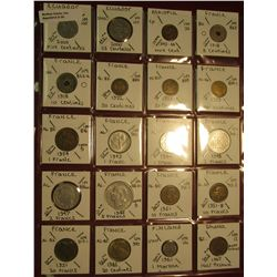 "30. (20) World Coins in 2"" x 2"" holders. All identified. Includes Ecuador, Ethiopia, France, Finland"