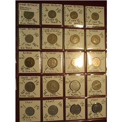 "31. (20) World Coins in 2"" x 2"" holders. All identified. Includes Great Britain, Greece, Hong Kong,"