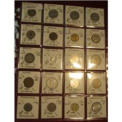 "33. (20) World Coins in 2"" x 2"" holders. All identified. Includes Singapore, Spain, Taiwan, Thailand"