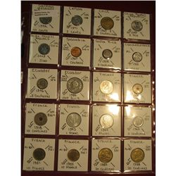 "38. (20) All BU or Unc World Coins in 2"" x 2"" holders. All identified. Includes Cayman Islands, Chil"