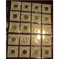"39. (20) All BU or Unc World Coins in 2"" x 2"" holders. All identified. Includes Ghana, Great Britain"