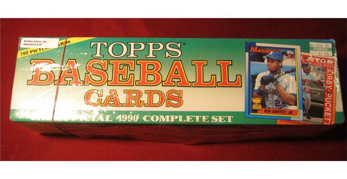 67 Complete Set Of 1990 Topps Baseball Cards 792 Cards Originally Sold At Pamida For 2799
