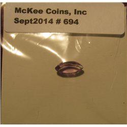 694. Genuine 1.05 Carat Amethyst. Marquis cut.