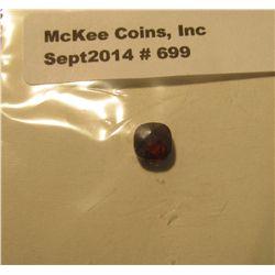 699. Genuine 1.45 Carat Garnet Square facet cut.
