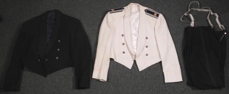 2 us air force major vintage dress-mess uniforms -tux