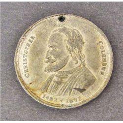 1892 CHRISTOPHER COLUMBUS 400TH ANNIVERSARY TOKEN