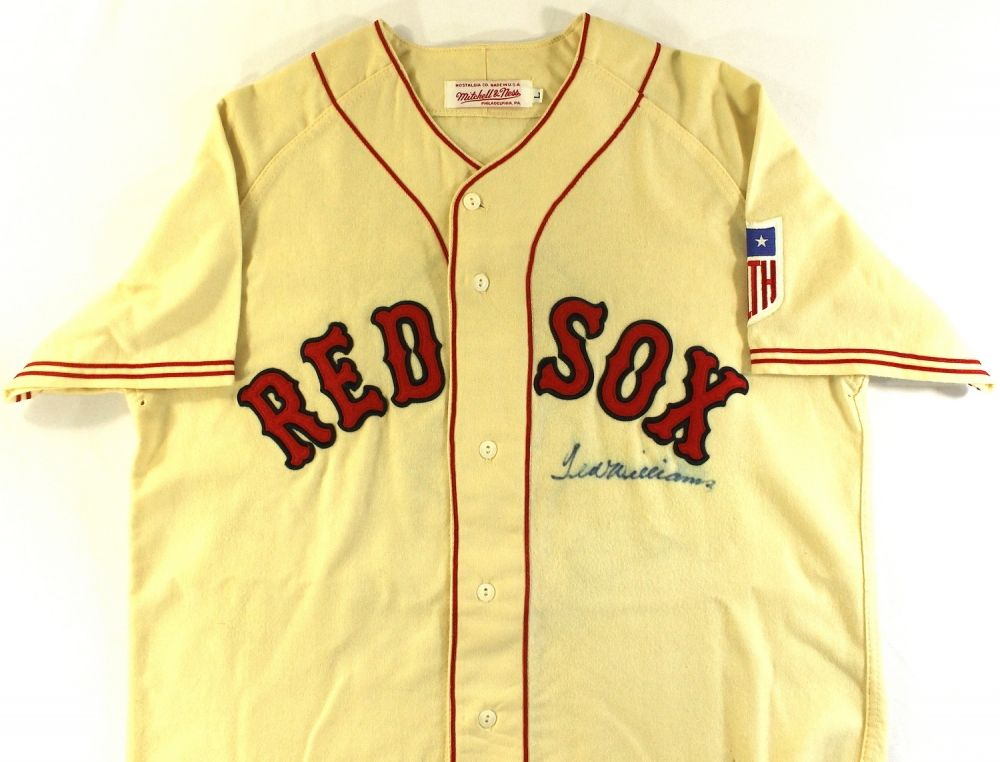cheap for discount cae66 b2cba Ted Williams Signed Red Sox Authentic Mitchell & Ness Jersey