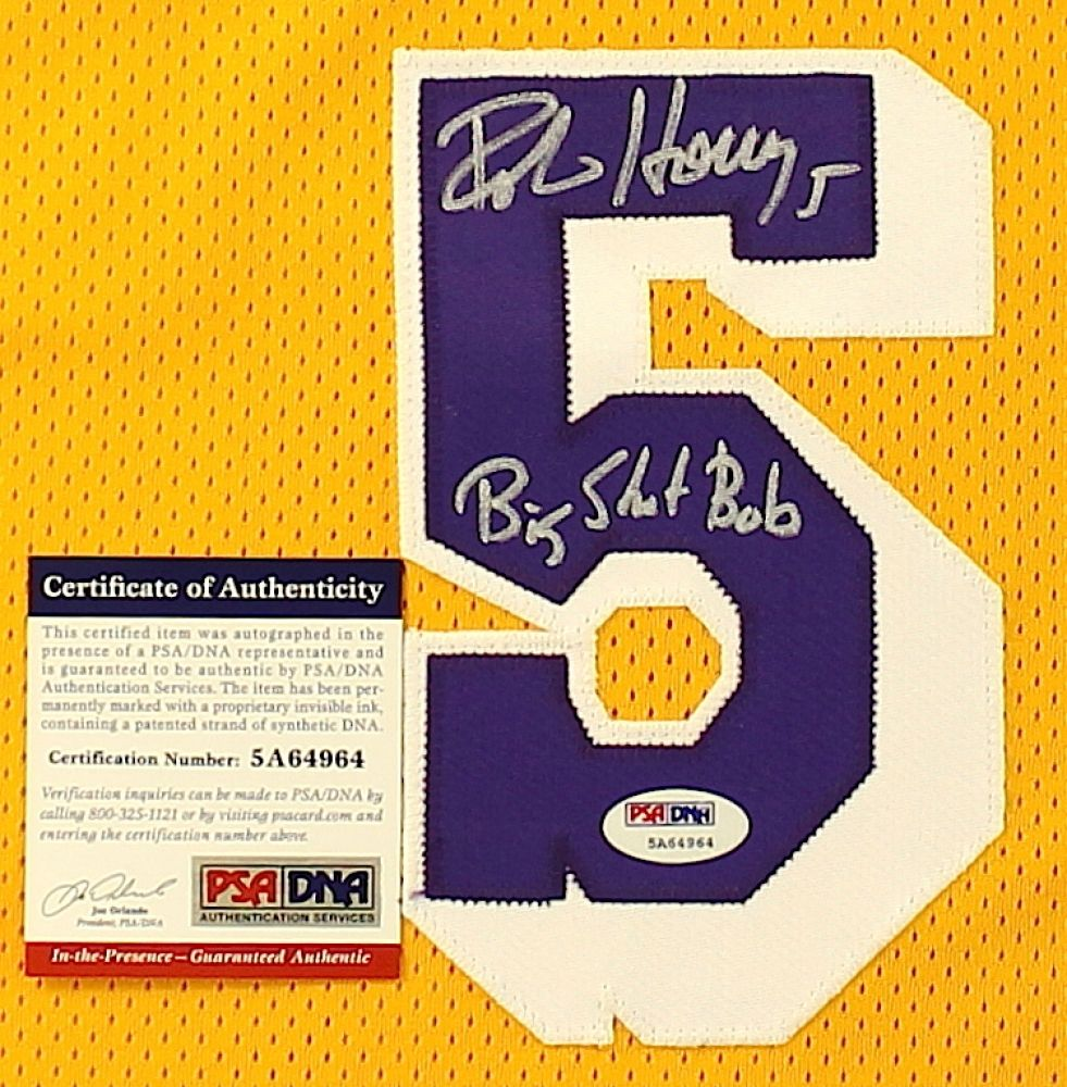 1ffee53c7b3 Robert Horry Signed Lakers Jersey Inscribed