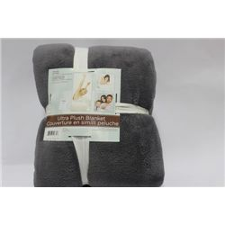 ULTRA - PLUSH BLANKET ON CHOICE: GREY