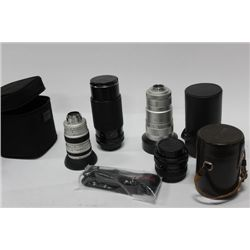 BOX OF CAMERA LENSES