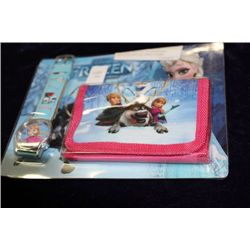 DISNEY FROZEN WATCH AND WALLET SET AS THEY COME