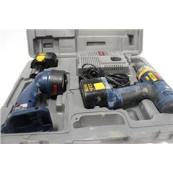 RYOBI 12V CORDLESS DRILL WITH LIGHT IN CASE