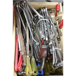 CRATE OF MISC. HAND TOOLS