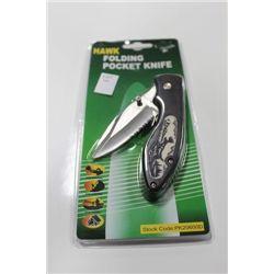 HAWK FOLDING POCKET KNIFE: MOOSE DESIGN