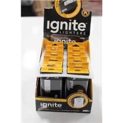 CASE OF 10 IGNITE LIGHTERS