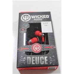 WICKED AUDIO DEUCE IN EAR HEADPHONES