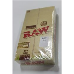 RAW NATURAL UNREFINED HEMP ROLLING PAPERS ON