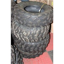 SET OF 4 25-10-12 QUAD TIRES