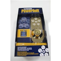 WEISER POWERBOLT SMARTKEY ELECTRIC TOUCH PAD