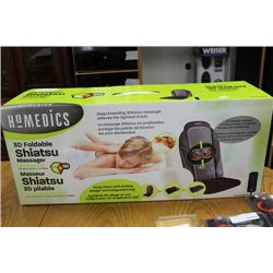 HOMEMEDIC 3D FOLDABLE SHIATSU MASSAGER
