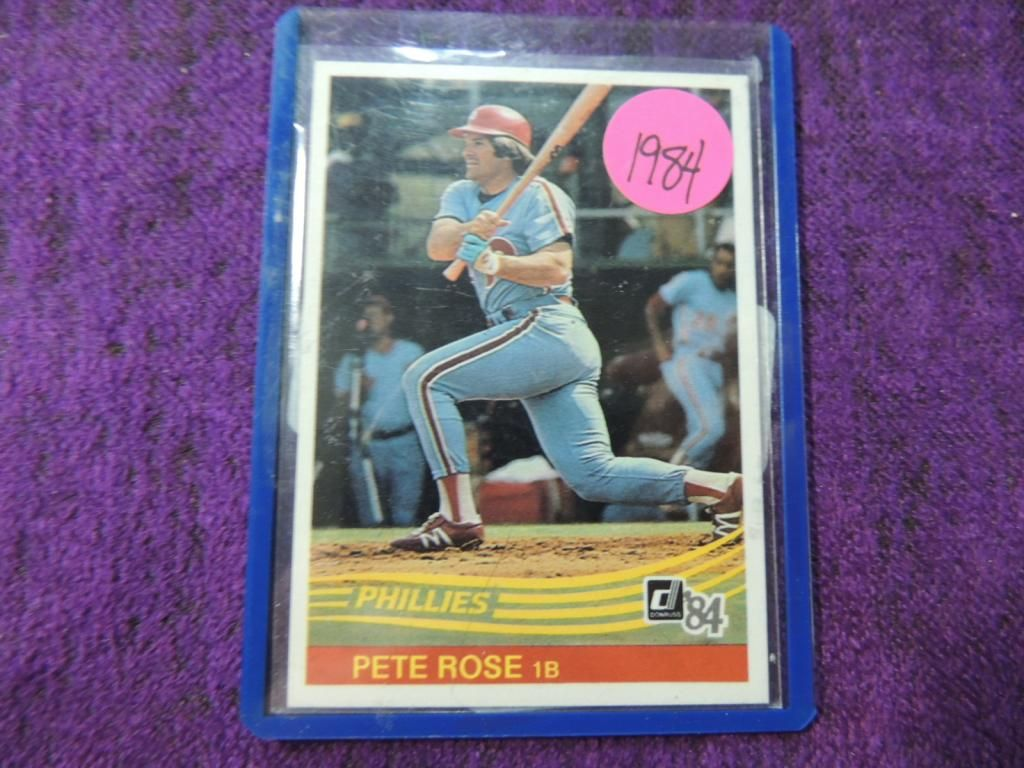 1984 Donruss Pete Rose 61 Baseball Card